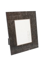 Chocolate Cork & Silver Leaf Frame 4x4