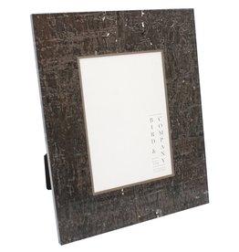 Chocolate Cork & Silver Leaf Frame 4x6