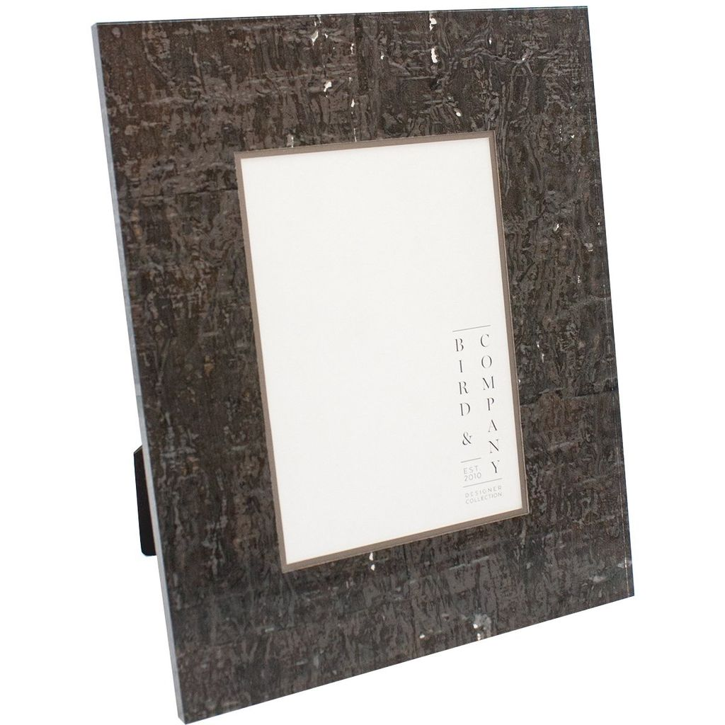 Chocolate Cork & Silver Leaf Frame 4x6