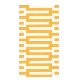 Caspari Zipper Yellow - Guest Towel