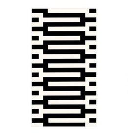 Caspari Zipper Black - Guest Towel