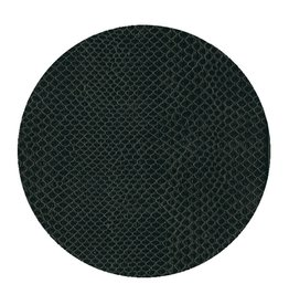 Caspari Snakeskin 8in Felt Coaster - Black