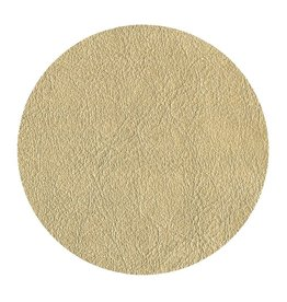 Caspari Gold Leather 8in Coaster