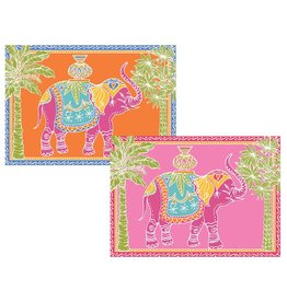 Caspari Royal Elephant - Assorted Notes 8in