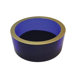 Caspari Arcylic Wine Bottle Coaster - Cobalt
