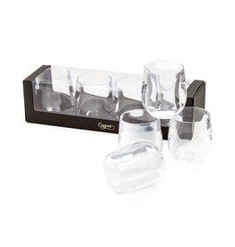 Caspari Acrylic Tumbler 12oz Set of 4 - Clear