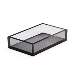 Caspari Acrylic Guest Towel Napkin Holder - Smoke