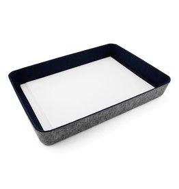 Three By Three FELT·LIKE·IT!™ STORAGE BINS-Navy Paper tray