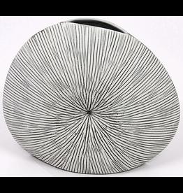Art Floral Trading Diva Round Vase WO7 - Black & White