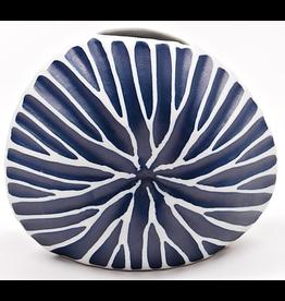 Art Floral Trading Diva Round Vase BL6 - Navy