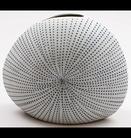 Art Floral Trading Diva Round Vase WO26 - White Blue