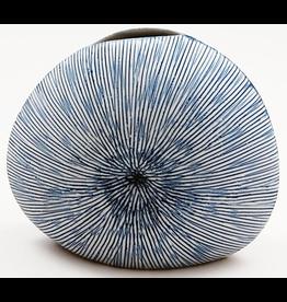 Art Floral Trading Diva Round Vase WO27 - Blue & White