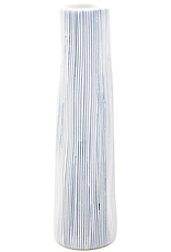 Art Floral Trading Koza Vase Medium- White & Blue Vertical