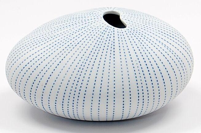 Art Floral Trading Pebble MX Vase - White & Blue