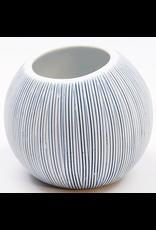 Art Floral Trading Pettra Vase Medium- White & Blue