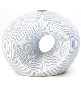 Art Floral Trading Artura Vase Short - White & Blue