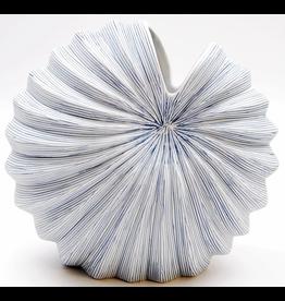 Art Floral Trading Palm Vase Large- White & Blue