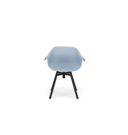 Eurostyle Helia Swivel Arm Chair - Blue