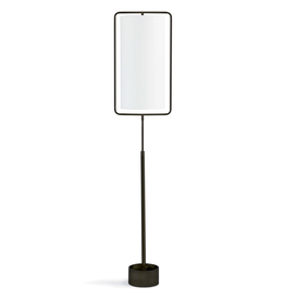 Geo Rectangle Floor Lamp - Black