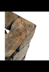 Jeffan Organic Tapered Wood Side Table