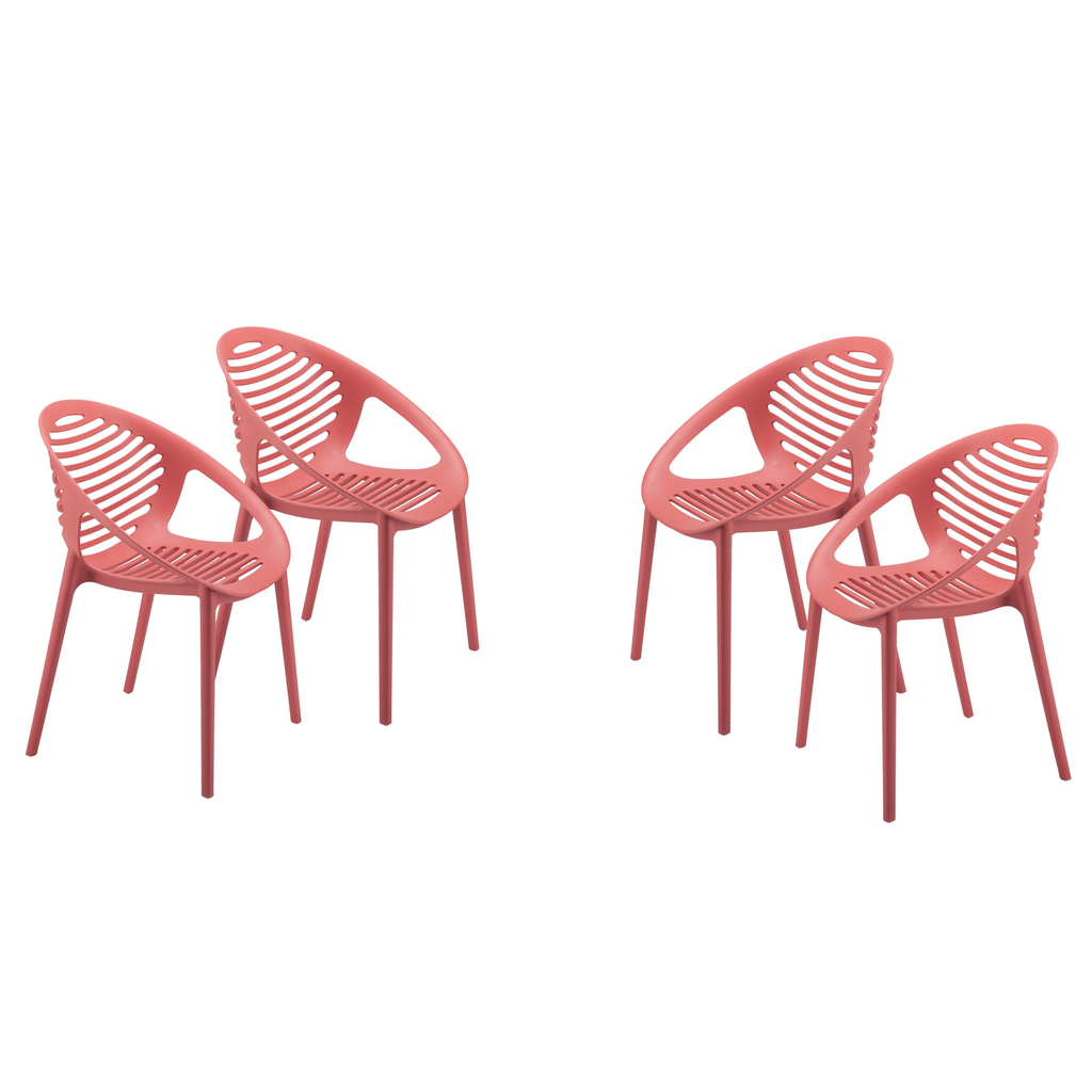 Eurostyle Lima Stacking Arm Chair - Red