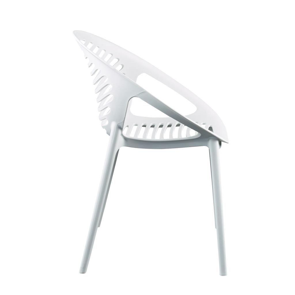 Eurostyle Lima Stacking Arm Chair - White
