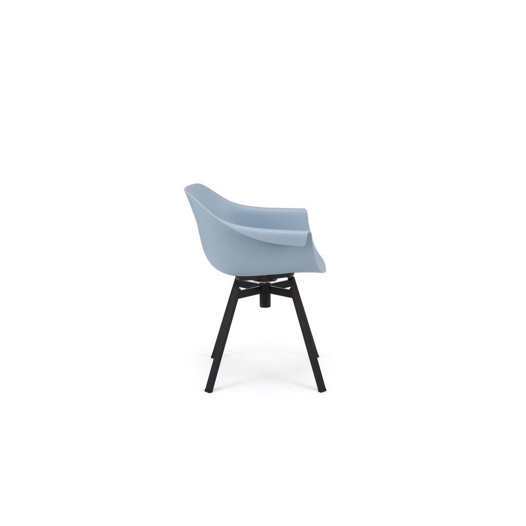 Eurostyle Helia Swivel Arm Chair - Blue