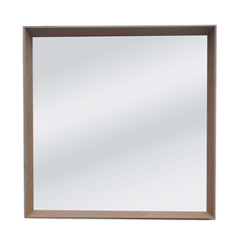 OAK FRAME WITH SQUARE BEVEL MIRROR