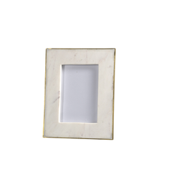 White Marble Frame 6X4in Photo