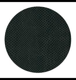 Caspari Snakeskin 8in Felt Coaster - Black