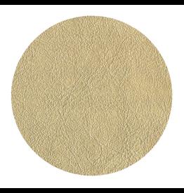 Caspari Gold Leather 8in Coaster