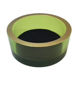 Caspari Arcylic Wine Bottle Coaster - Emerald