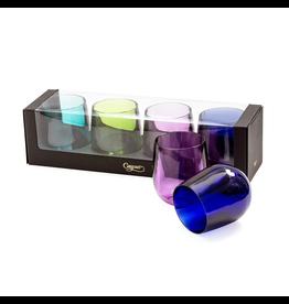 Caspari Acrylic Tumbler 12oz Set of 4 - Jewel Tones
