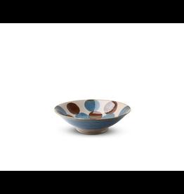 Miya Rustic Blue & Brown 9.75in Serving Bowl