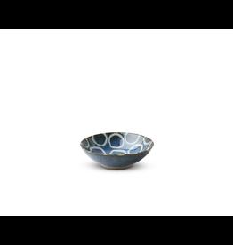 Miya Rustic White Circles 5.25in Bowl