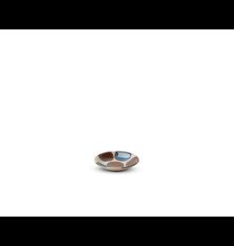 Miya Rustic Blue & Brown 3.5in Sauce Dish