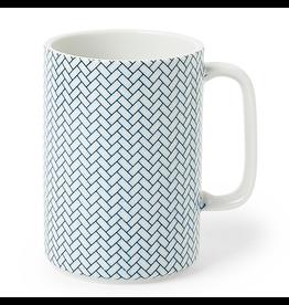 Miya Blue & White Ajiro Mug