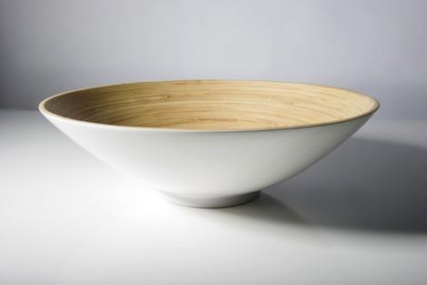 Bibol Khup Large Fruit Bowl 17.7x5- White