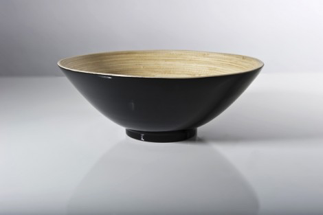 Bibol Khup Small Fruit Bowl 9.8x3.3 - Black