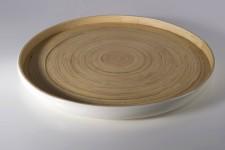 Bibol Khay Medium Tray 13.7in - Gloss White