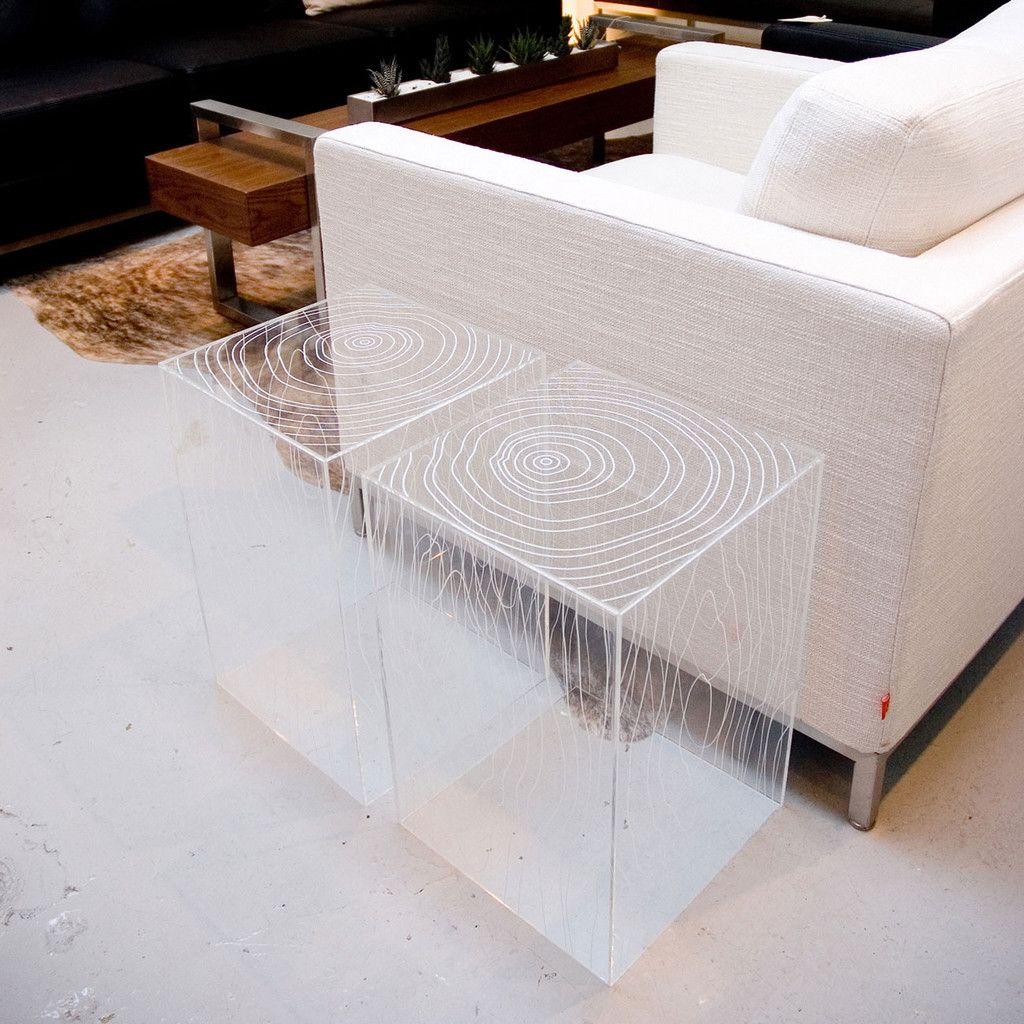 Timber Table, Clear Acrylic