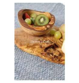 Scents & Feel Olive Wood 5.5in Small Rustic Bowl