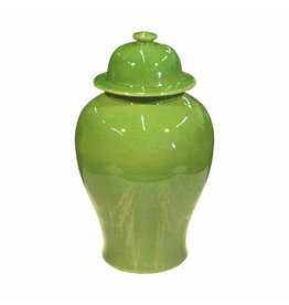 Temple Jar, Lime Green