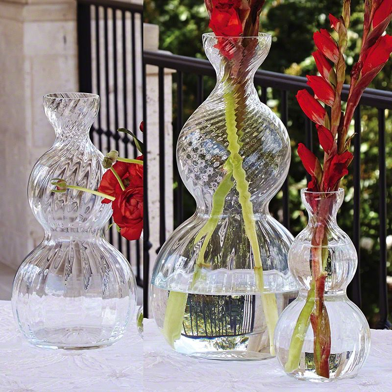Stacked Sphere Vase-Optic-Lg