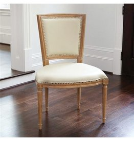 Marilyn Side Chair, Ivory Leather