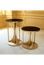 Hourglass Table-Antique Gold, Small