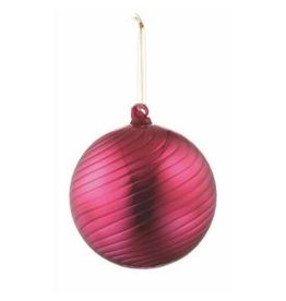 "SHINY SWIRL GLASS BALL ORNAMENT 6"""