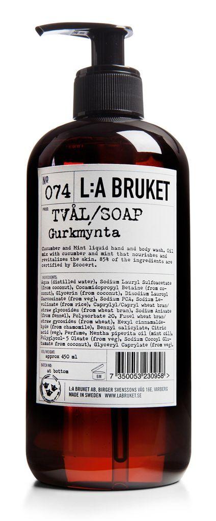 No. 074 Cucumber / Mint Liquid Soap, 450mL