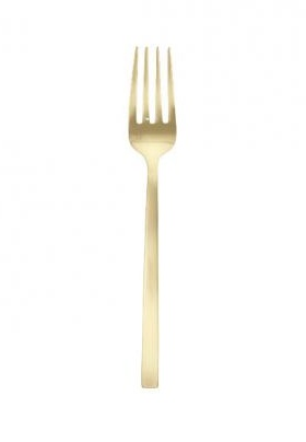 """Titan PVD Arezzo Brushed Gold Serving Fork 9.25"""" (23.5cm)"""