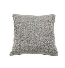 """Pillow Boucle, 18""""x18"""", LIGHT GREY"""
